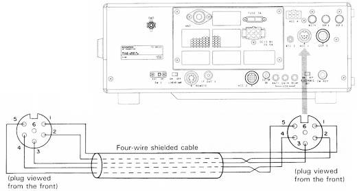 ham radio ts850 control din 5 pin electrical connector kenwood ts 850s radio