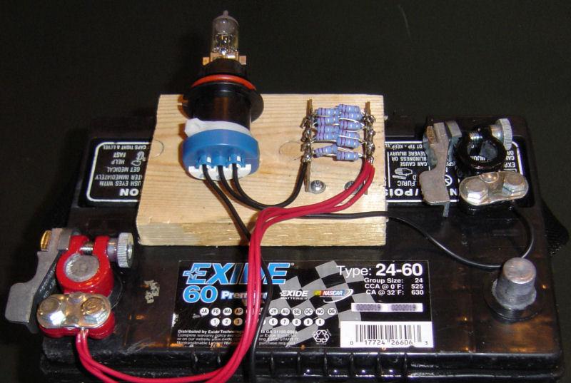 Standard Automotive Battery Load Tester : Mark battery test