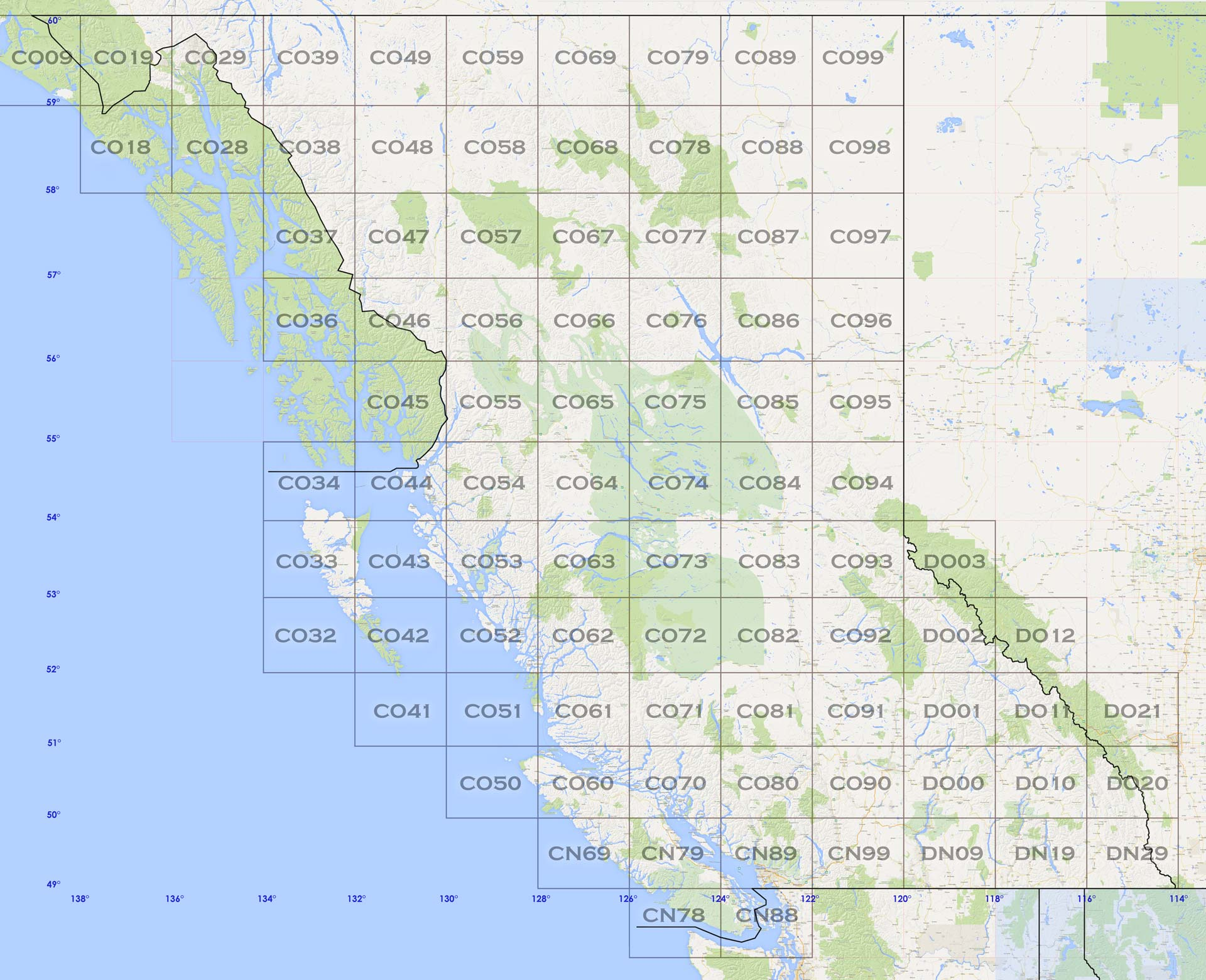 British Columbia Rover Locations - BC Map