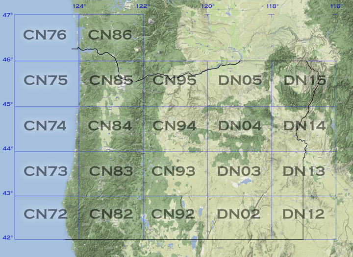 Oregon rover locations or map map of vhf rover operating locations in oregon state grid squares gumiabroncs Image collections